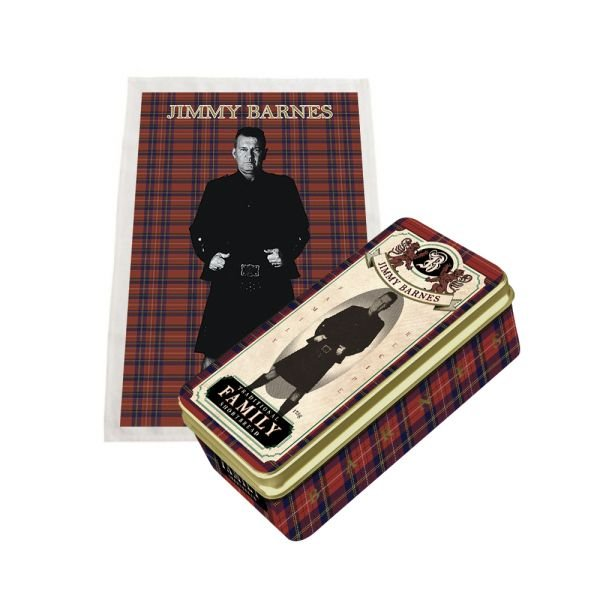 SHORTBREAD AND TEA TOWEL IN SOUVENIR TIN